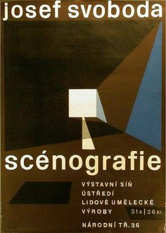 "Josef Svoboda, scenografie - is the first lot in the poster auction ""Ader-Nordmann Paris, The F.H.K. Henrion collection"" on Oct. 3, 2013"