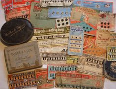 Vintage haberdashery - hooks, eyes and snap fasteners by the vintage cottage on Flickr.