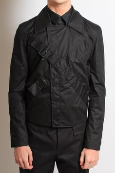 Shop Raf Simons Men's Cross Buckle Jacket at Autograph Menswear