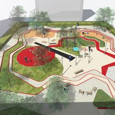 A Toddlers Playground by Espace Libre « Landscape Architecture Works | Landezine