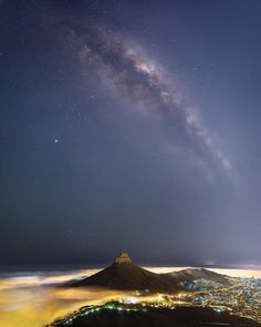 Milky Way over Lion's Head This is a 12 image panorama of the milky way body over the iconic Lions Head in Cape Town, South Africa. I have…