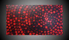 ORIGINAL Abstract Acrylic Painting Art Deco by acrylkreativ, $339.00