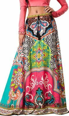 Flying Tomato Sexy Multicolored Ethnic Tribal Full Long Boho Gypsy Maxi  Skirt- I don t know if I really want to admit it or not but I actually kind  of like ... 95afd8faa31f