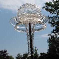 Glass Garden Totem by GardensAndCrafts on Etsy