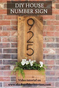 Address Planter Large wooden porch vases welcome sign reclaimed wood Exterior Paint Colors For House, Paint Colors For Home, Home Design, Design Design, Modern Design, Diy Casa, White Planters, Farmhouse Homes, Farmhouse Decor