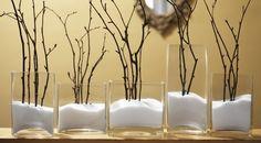 Cool idea for the non-blooming season. Epsom Salt as snow