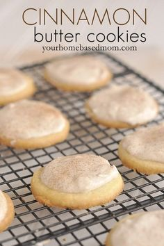 Super delicious Cinnamon Butter Cookies - the perfect blend of buttery goodness and cinnamon.  Yum!