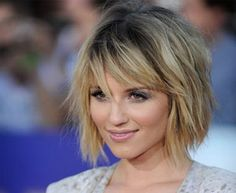 I want to cut my hair like this but a little bit longer. To my shoulders. would it look ok on a round face?