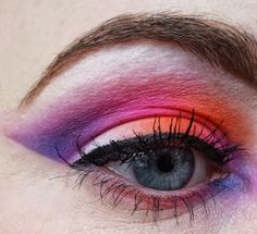 Sugarpill Burning Heart and Sweetheart palettes. Nothing Rhymes With Rachel: Colourful Cut Crease with Sugarpill