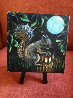 Squirrel Night Watchman by AsTheCroweFlies on Etsy, $80.00
