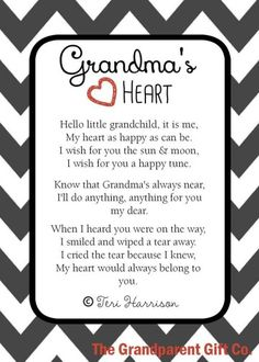 Grandma's Heart is our classic grandma poem loved by thousands of experienced and new grandmas. Grandmas heart is a thoughtful gift for grandma or from baby to grandma. This inspirational poem is one of our best baby shower gifts for grandma. Grandson Quotes, Quotes About Grandchildren, Daughter Quotes, Grandkids Quotes, Baby Quotes, Family Quotes, Life Quotes, Baby Poems, Baby Sayings