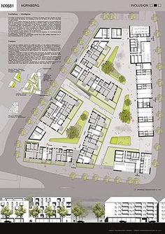 Landscaping Architecture Masterplan Projects 70 Ideas Best Picture For Landscape Archit Social Housing Architecture, Masterplan Architecture, Urban Architecture, House Architecture, Architecture Interiors, Landscape Architecture Drawing, Landscape Design, Planer Layout, Urban Design Plan