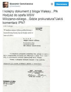 Sławomir Cenckiewicz zwrócił uwagę, że Lech Wałęsa publikuje na swoim blogu dokumenty, które nie powinny być w jego posiadaniu.