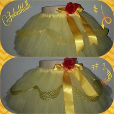PRINCESS BELLE DISNEY Tutu by Justwithtulle on Etsy
