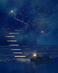 Fantasy art drawings pictures new Ideas Japon Illustration, Dream Illustration, Fantasy Landscape, Galaxy Wallpaper, Moon And Stars Wallpaper, Wallpaper Samsung, Anime Scenery Wallpaper, Aesthetic Art, Night Skies