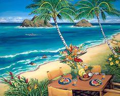 Catching Waves at Lanikai - Hawaiian Art by Susanne Ball