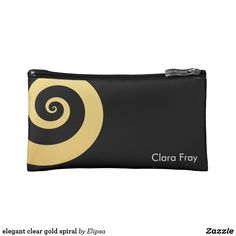 elegant clear gold spiral cosmetic bag