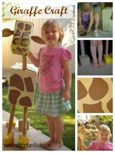 Giraffe Craft - What a great craft using recycled materials from the house.