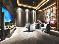 Top 70 Best Home Theater Seating Ideas - Movie Room Designs Home Theater Room Design, Home Cinema Room, Best Home Theater, Home Theater Rooms, Home Theater Seating, Theater Seats, Cinema Art, Ecran Projection, Media Room Seating