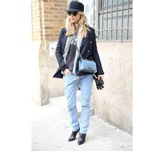 Street Looks at New York Fashion Week: Day 2 Street Style 2014, Autumn Street Style, Street Chic, Tomboy Fashion, Denim Fashion, Tomboy Style, Women's Fashion, Fashion Week, Work Fashion