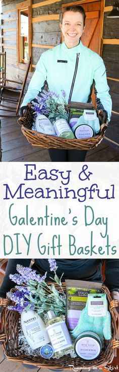 Easy & Meaningful Galentine's Day Gift Ideas! DIY Gift baskets and ideas to celebrate your lady friends and bffs!  Includes how to make tips and answers the question what is Galentine's Day!  A fun idea from from the tv show Parks and Rec. / Running in a Skirt @iherbinc