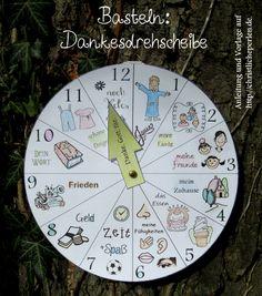 Dankesdrehscheibe basteln Photo