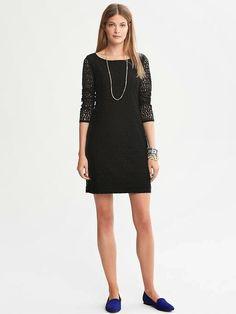 0926e9cdcc9b0 etekli düz kesim model Banana Republic Elbise, Süslü Elbise, Siyah  Danteller, Sexy Dresses