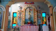 Beautiful and serene altar of Fatima Mata Church, Chulne Village. Vasai West.