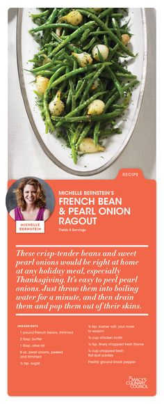 Macy's Culinary Council Chef Michelle Bernstein's French Bean & Pearl Onion Ragout