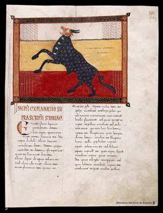Beato de Liébana. Beato de Liébana , Santo — Manuscrito — 1047 Ferdinand, Maleficarum, The Last Unicorn, Wine Design, Early Christian, Medieval Art, Western Art, Illuminated Manuscript, Islamic Art