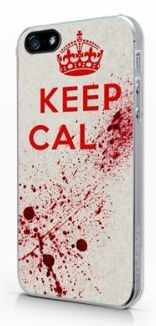 iPhone Halloween Costume Cases for Teen Guys:  Bloody Keep Calm iPhone 5 Case @ Amazon
