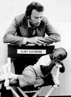 Clint Eastwood. This is impossibly cute. Does anybody know the backstory?