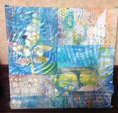 JaneVille: Abstract Collage with the Gelli Plate ~ student work