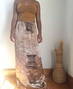 A personal favorite from my Etsy shop https://www.etsy.com/listing/470579218/vintage-tye-dye-print-silk-skirt