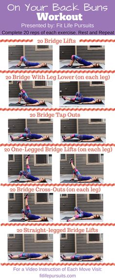This is the perfect buns workout to get those glute muscles burning! Don't feel like getting up today? No problem! You can do this entire workout laying down