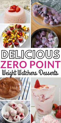 Here are 30 delicious and easy zero point Zero Point Weight Watcher's Desserts that are a perfect way to end a meal or indulge in a guilt free snack. These guilt free Weight Watcher's Dessert ideas are great for anyone using the Weight Watchers program. Weight Watcher Desserts, Weight Watchers Snacks, Weight Watcher Smoothies, Grape Recipes, Raspberry Recipes, Ww Recipes, Dinner Recipes, Potato Recipes, Deserts