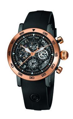 Basel 2016 Novelty - Chronoswiss Timemaster - Chronograph Skeleton - Red Gold & DLC, CH9054-RS