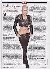 Miley Cyrus in the Rolling Stone Magazine
