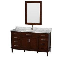 "Buy Hatton 60"" Single Bathroom Vanity by Wyndham Collection - Dark Chestnut at ModernBathroom.com. Get free shipping and factory-direct savings on Hatton 60"" Single Bathroom Vanity by Wyndham Collection - Dark Chestnut."