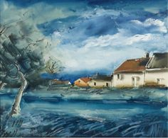 Landscape with Houses.  De Vlaminck