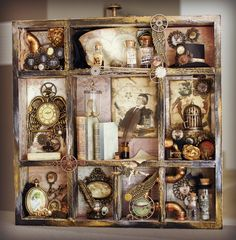 Lenas Welt: Steampunk Shadow Box
