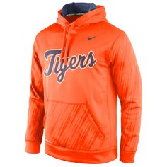 Detroit Tigers Nike Speed KO Performance Pullover Hoodie - Orange - $59.99