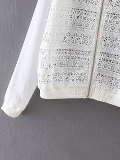Shop White Long Sleeve Rib-knit Cuff Crochet Jacket online. SheIn offers White Long Sleeve Rib-knit Cuff Crochet Jacket & more to fit your fashionable needs.