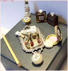 View album on Yandex. Perfume Display, Bottle Display, Vanity Set, Vanity Fair, Mini Makeup, Antique Vanity, Chanel, Barbie Accessories, Miniture Things