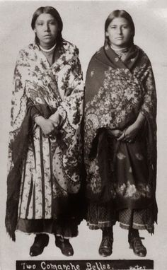 Historic Pictures of Comanche Indian Women: