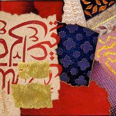 India-Fragments - Jenny Gore - Enamel on Copper.