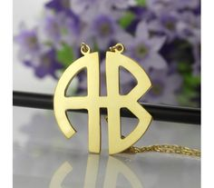Personailzed Gold Plated Two Initial Necklace