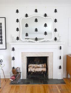 Nalle's House: DIY: Modern Paper Tree Garlands