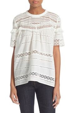 Sea Stripe Lace Top available at #Nordstrom