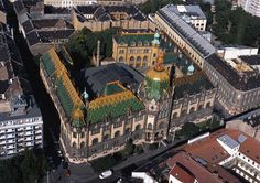 Aerial view of the Museum of Applied Arts, Budapest, Hungary Danube River Cruise, Academy Of Music, India Art, Budapest Hungary, Ancient Greece, British Museum, Aerial View, Building Design, Wonders Of The World